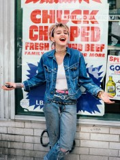 early Madonna in Independence Day colors