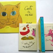 """A bind of two books about cats, one """"by Andy Warhol's mother"""""""
